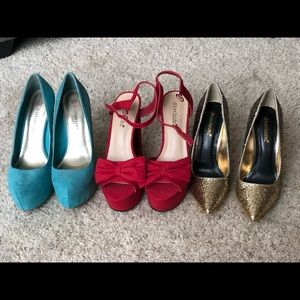 Lot of 3 pairs of JustFab and ShoeSazzle heels!
